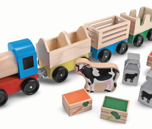 Wooden Farm Train Set