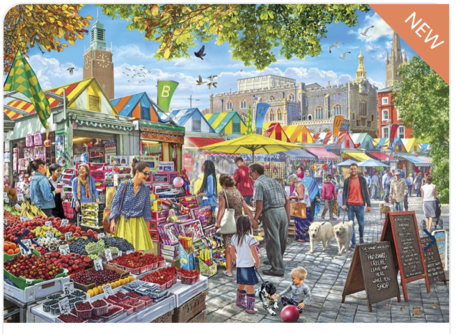 GIBSONS MARKET DAY, NORWICH 1000 PIECE JIGSAW PUZZLE