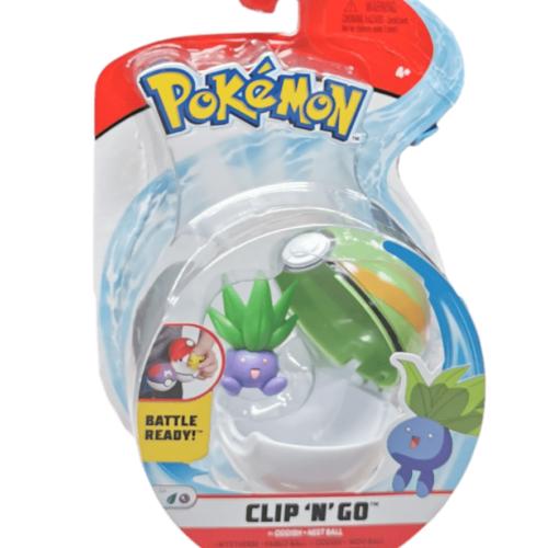 Pokemon Clip N Go Oddish + Nest ball