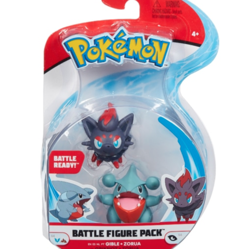 Pokémon Gible & Zorua Battle Figures