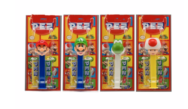 Pez Best Of Nintendo Super Mario 1+2 Impulse Packs 17g